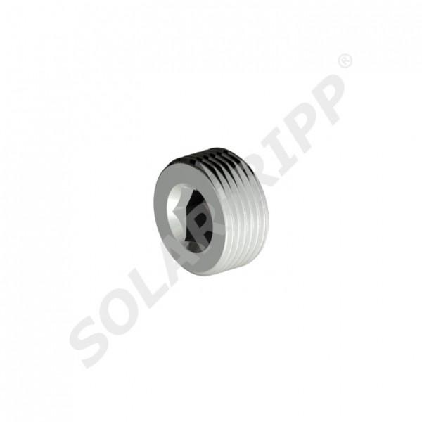 """SOLAR-RIPP ® Tapón rosca macho 0.75"""" para colector, hecho del metal (NUEVO)"""