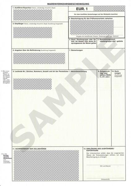 Documento de exportación EUR.1